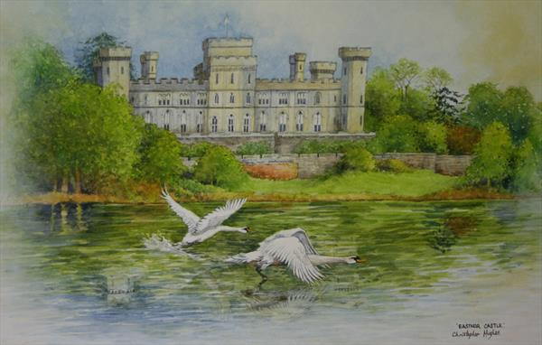 Eastnor Castle Swans. by Christopher Hughes