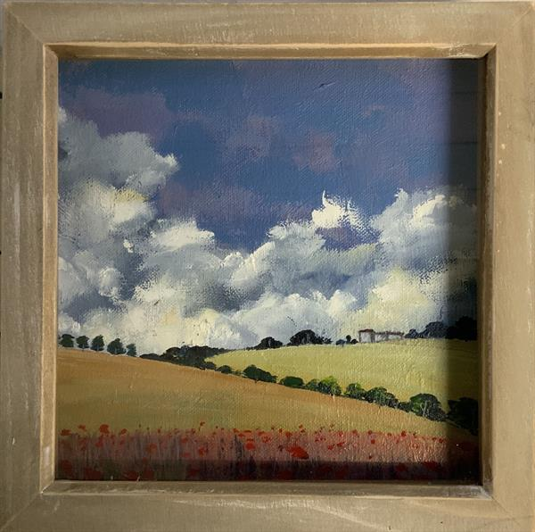 Stay Gold - a French summer ( framed original oil) by Sarah Gill