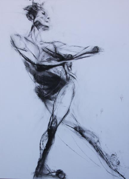 Dancer, charcoal by Liane Stevenson
