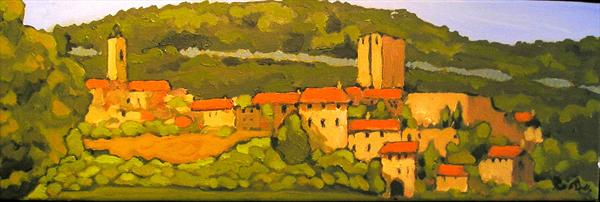 Village in the Ardèche by Paul O' Dell