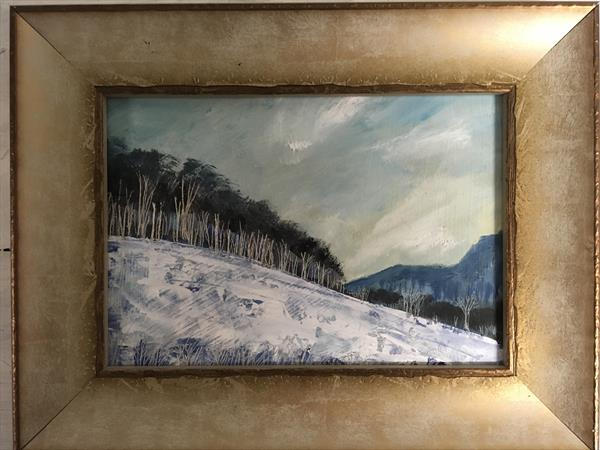 January morning on Firestone Hill ( framed original ) by Sarah Gill