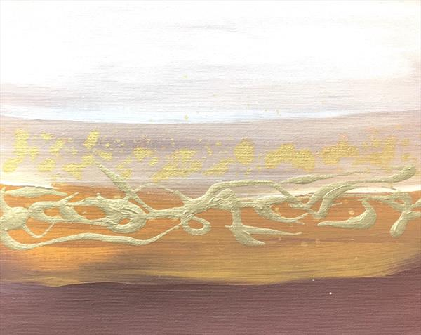 Gold and brown abstract  by Monika Howarth