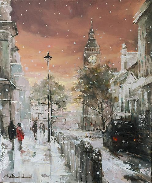 'A Stroll to Westminster', 2014 by Eva Czarniecka