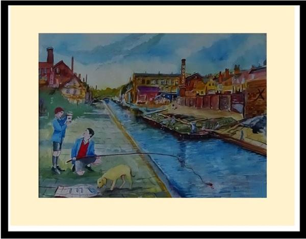 Fishing For Tiddlers at the Old Canal by David King