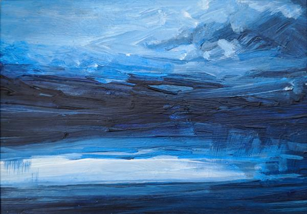 Out at Sea Rain by Tracy Butler