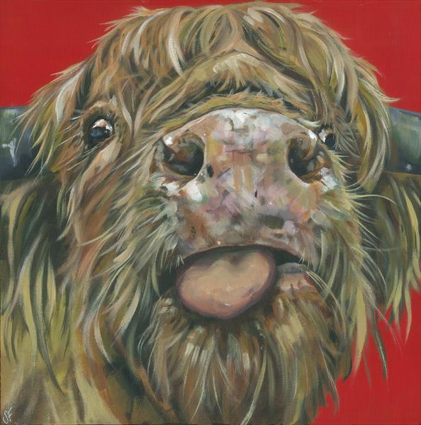 Cheeky Cow (Limited Edition Print of 150) by Sam Fenner