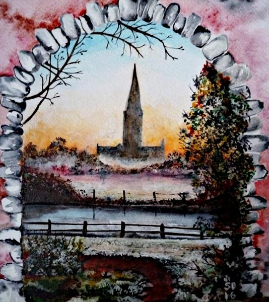 [Sold] A View Of Salisbury Cathedral