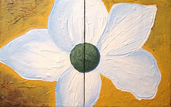 new flower floral garden painting canvas wall art by Stuart Wright