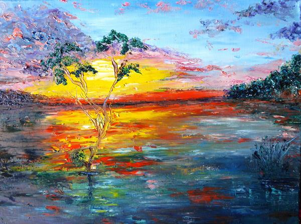 Shimmering Lake by Mary Ann Day