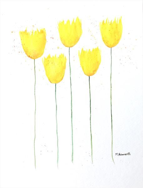 Yellow tulips nr 2 by Monika Howarth