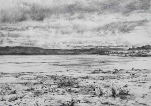 Findhorn Bay Drawing by Richard Freer