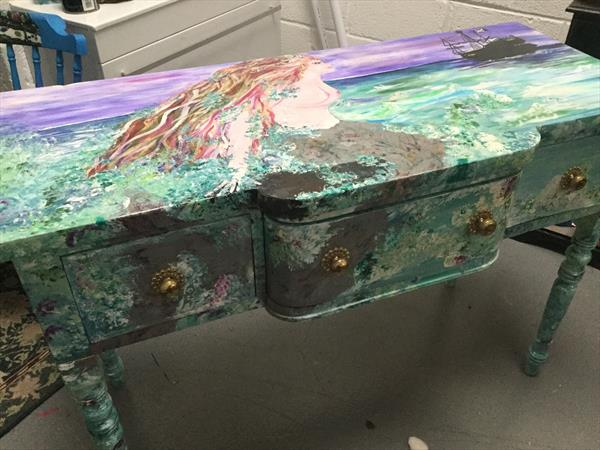 Mermaid Dressing Table by Kate Gallwey