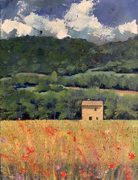 French Midsummer ( original oil on box canvas) by Sarah Gill