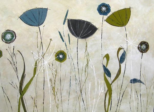 Wild Flowers and Seedheads (Commission) by Tracey Waghorn
