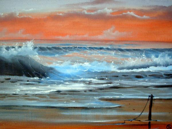 crash of waves by Terry Wylde