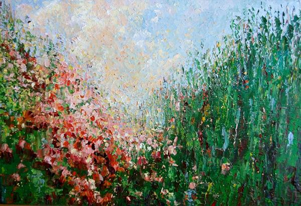PEACH GARDEN by Therese O'Keeffe