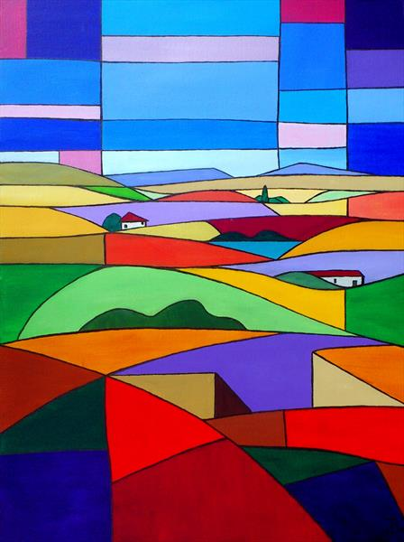 Patchwork Landscape #10 (Reserved for AB) by Tony Baden