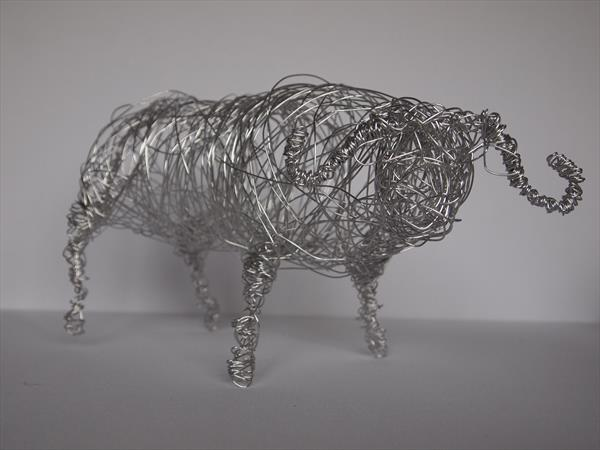 Buffalo Wire Sculpture by Steph Morgan