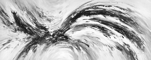 Stick: Abstraction Black And White 1 by Peter Nottrott