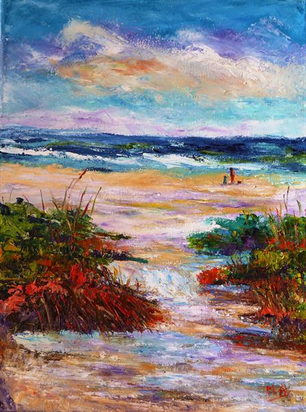 A Walk on the Beach by Mary Ann Day
