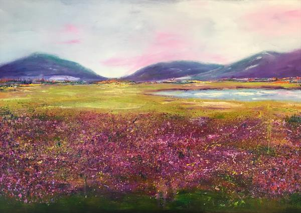 Shades of heather 2 by June Gordon