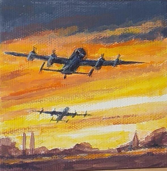 Lancasters over lincolnshire by Maureen Lacey