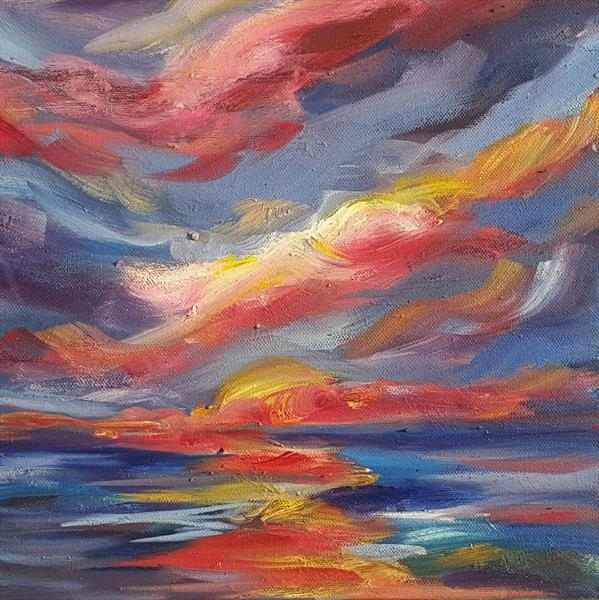 Sunrise lights up the early morning sky by niki purcell