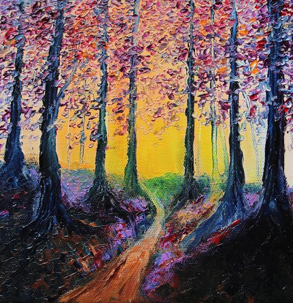 Sunbacked Trees by Paul Smith