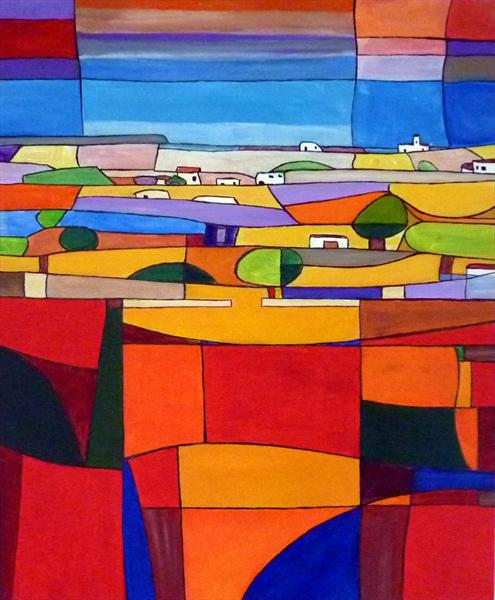 Patchwork Landscape 4 by Tony Baden