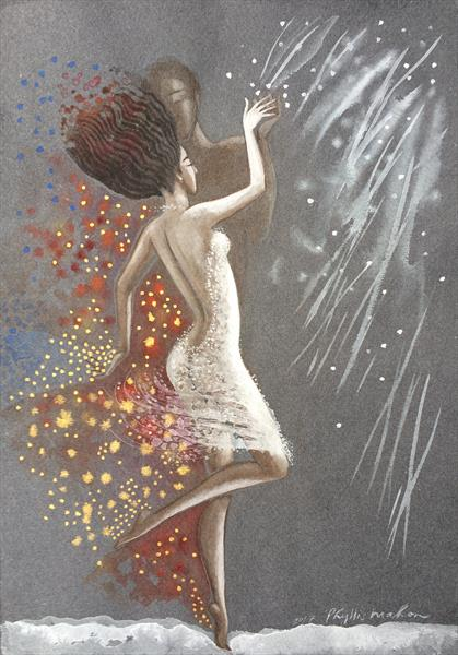 Dancing with an imaginary man by Phyllis Mahon