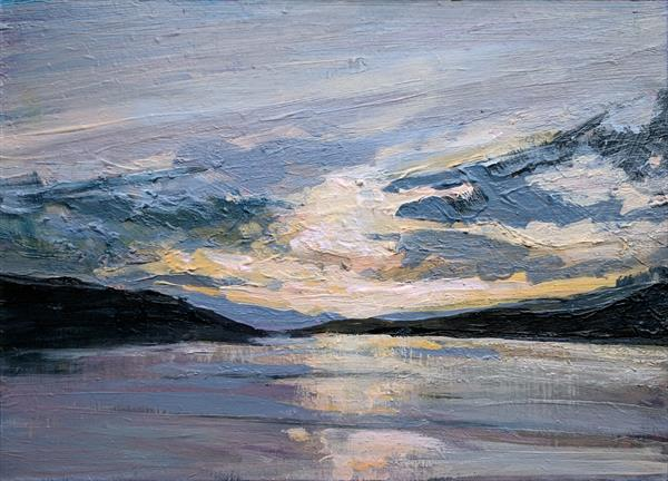 Silvery Sunset, Loch Fyne by Tracy Butler