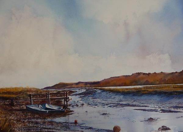 SUNSET AT TEIGN ESTUARY by Gill Michael